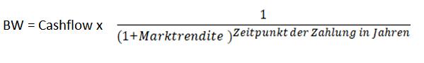 Formel zur Ermittlung des Barwertes