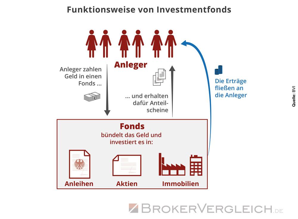 Diese Infografik zeigt, wie Fonds funktionieren