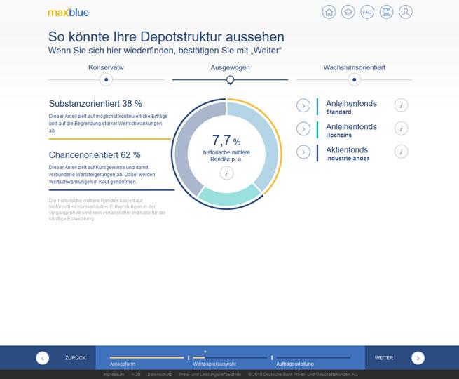 Screenshot des AnlageFinders