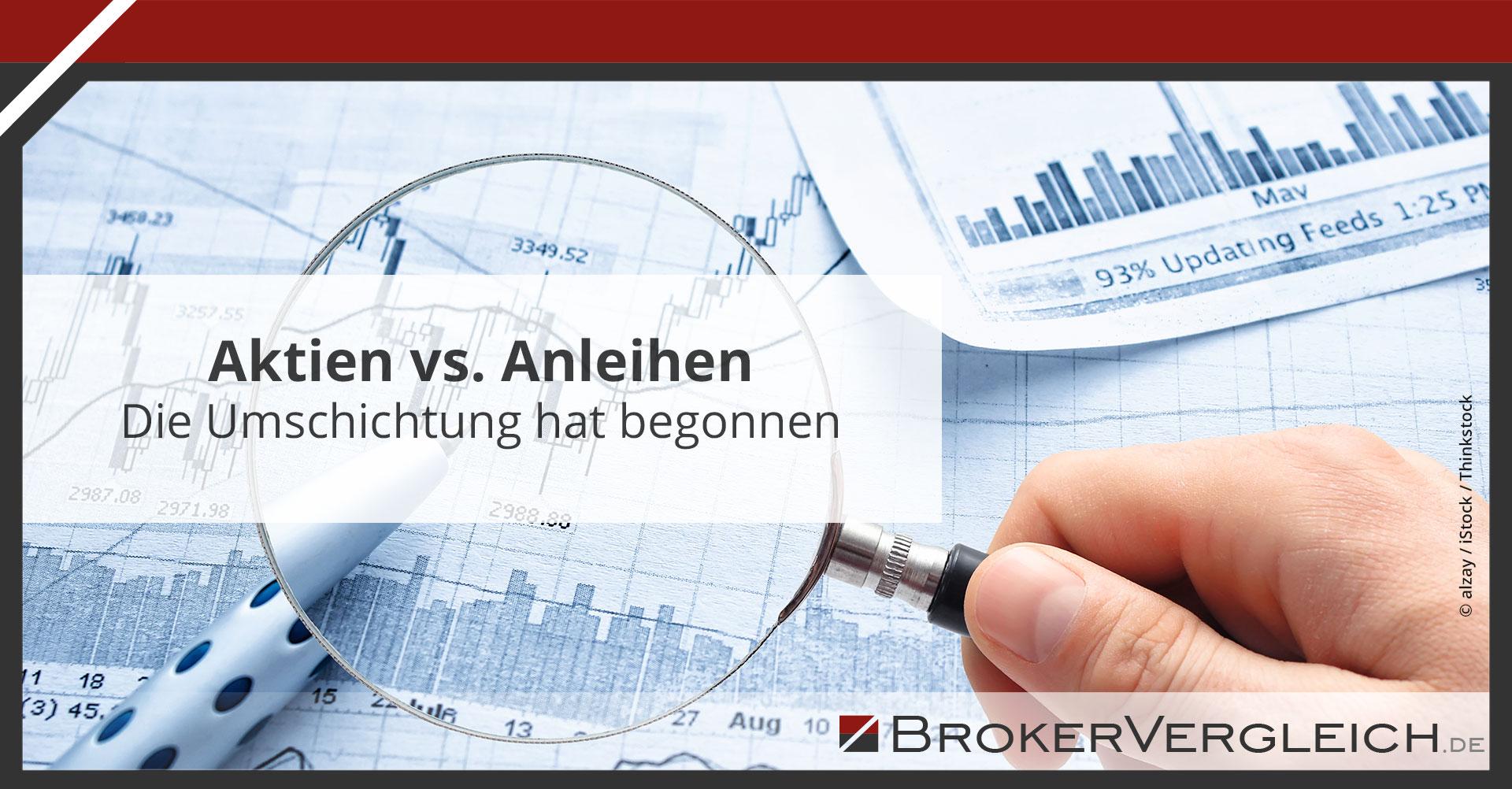 Zum Beitrag - Aktien vs. Anleihen: Die Umschichtung hat begonnen