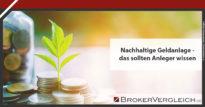 Zum Beitrag - Nachhaltige Geldanlage