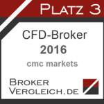 CFD-Broker des Jahres 3. Platz