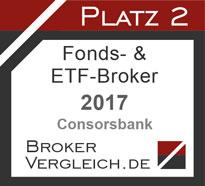 Fonds- & ETF-Broker des Jahres 2017 2. Platz