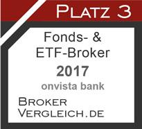 Fonds- und ETF-Broker des Jahres 2017 3. Platz