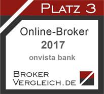 Online-Broker des Jahres 2017 3. Platz
