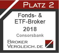 Fonds- & ETF-Broker des Jahres 2018 2. Platz
