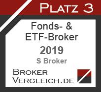 Fonds- und ETF-Broker des Jahres 2019 3. Platz