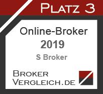 Online-Broker des Jahres 2019 3. Platz