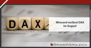 Wirecard fliegt aus dem DAX
